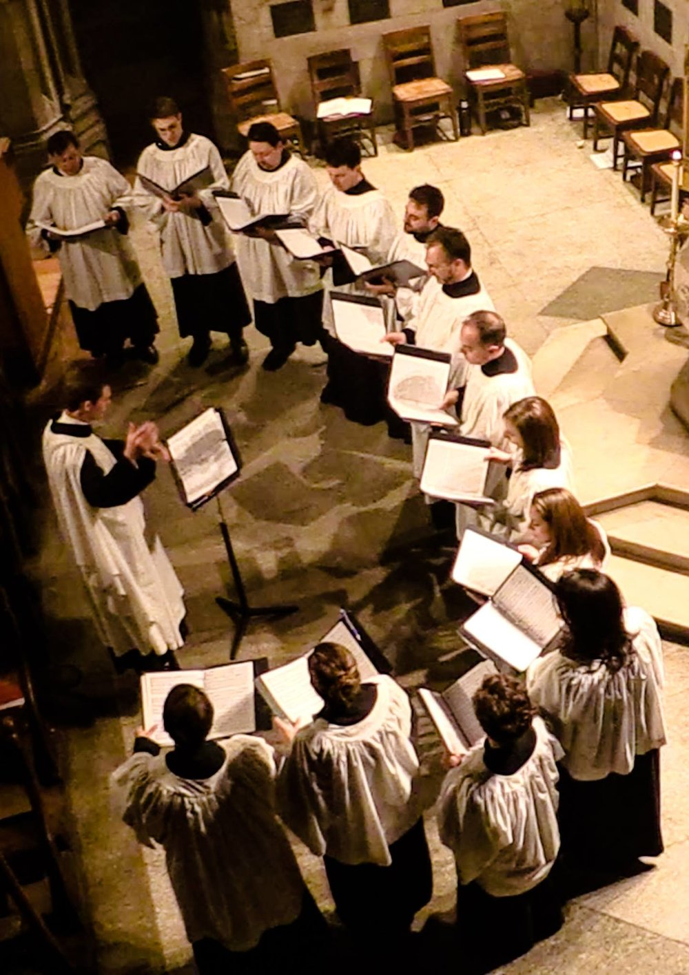James conducting the choir of Saint Ignatius of Antioch