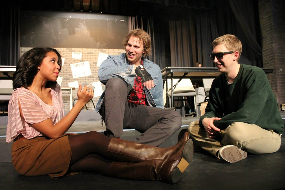 The Breakfast Club, 2014  Lisa Glover as Claire; Timothy Moore as Brian; Christopher Hahn as Bender  Credit: The Playground Theatre