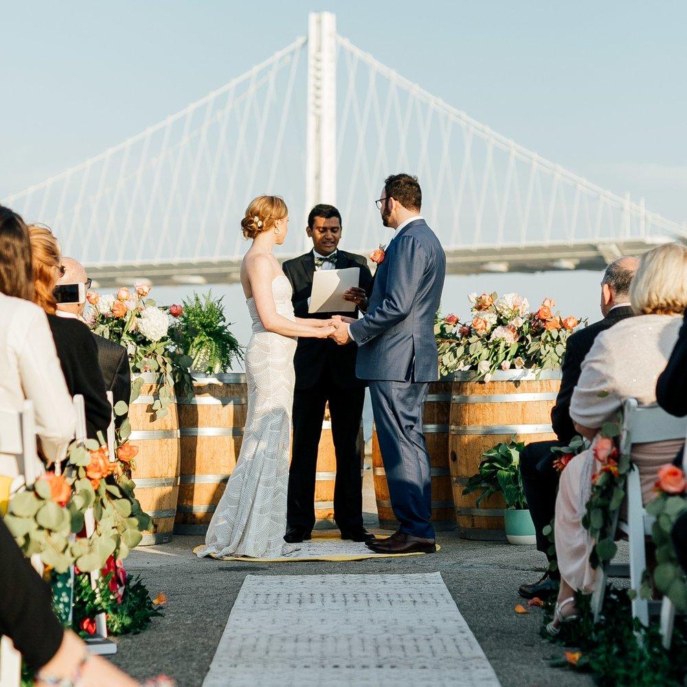 San Francisco Waterfront Wedding Ceremony