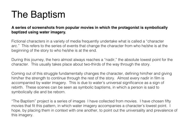 The Baptism 2012 Andrew Maxedon