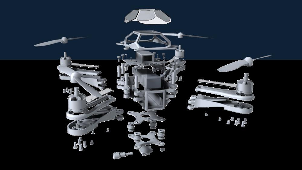 quadcopter-exploded