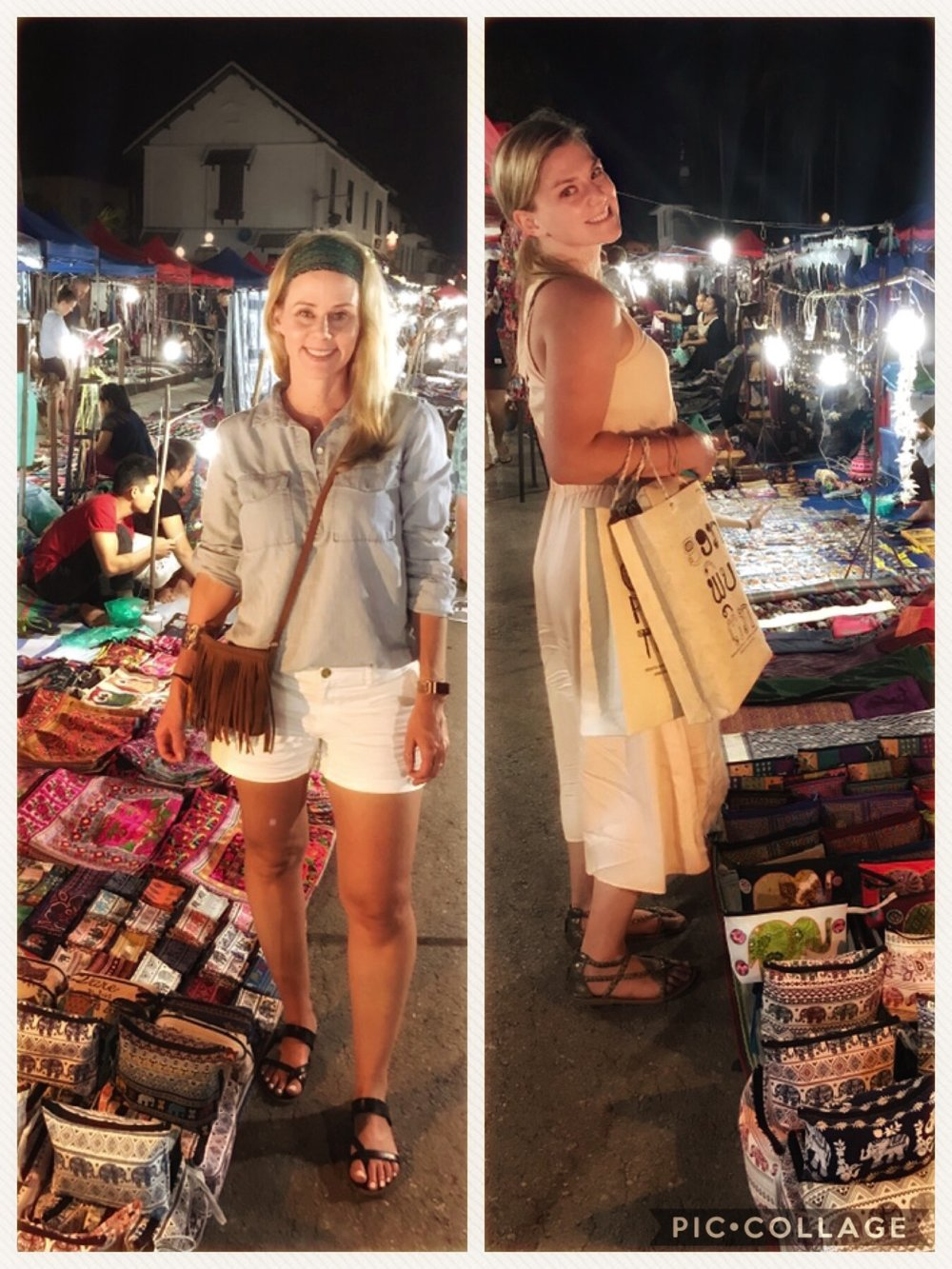 My Bestie Lauren + I shopping at the night market.