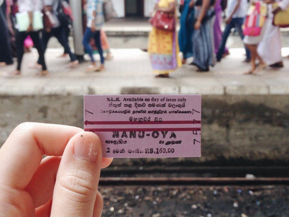 Traveling around Sri Lanka on railways