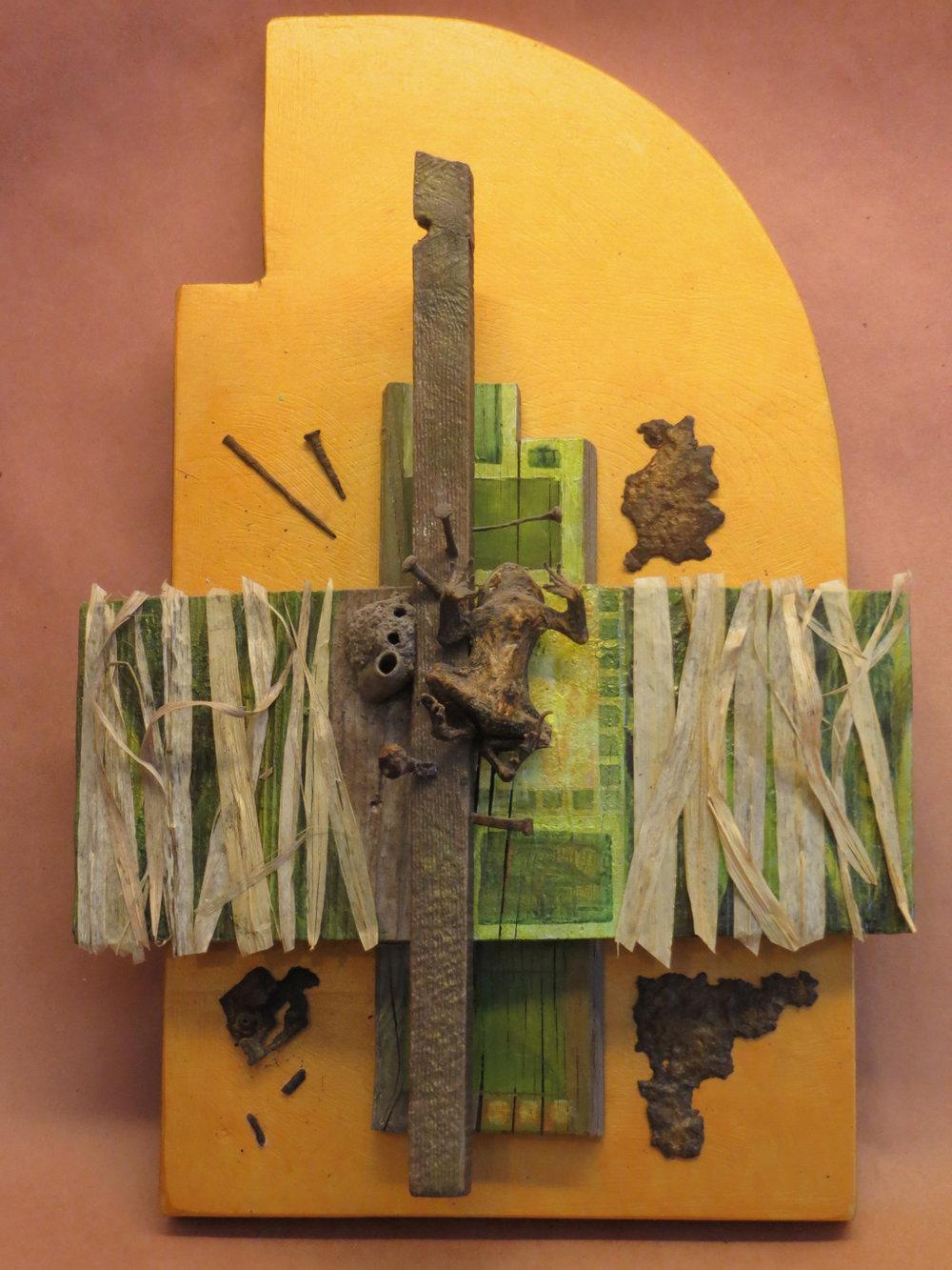 BILL VOSE  - PawPaw, IL   Yoruba Dream   mixed media