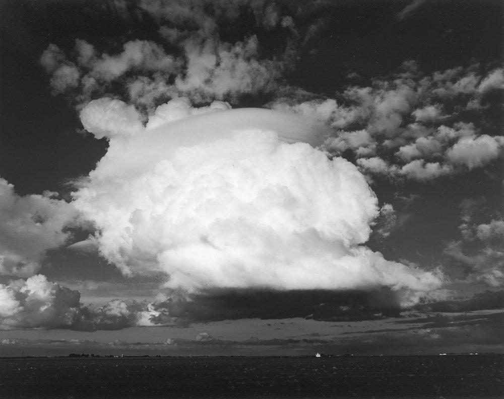TIM SCHROLL  - Blandinsville, IL   Cloud over Barn   silver gelatin print