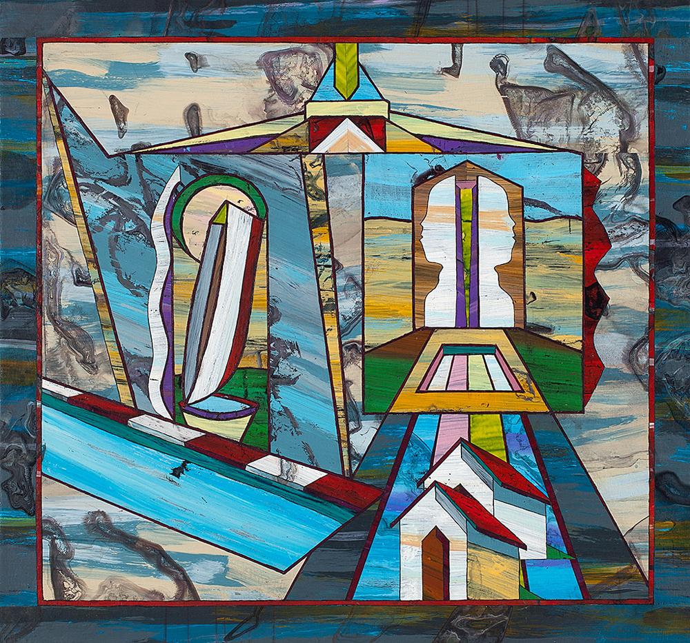 JOHN MALVETO  - Walker, LA   Gentle Wave With Boat   acrylic on canvas
