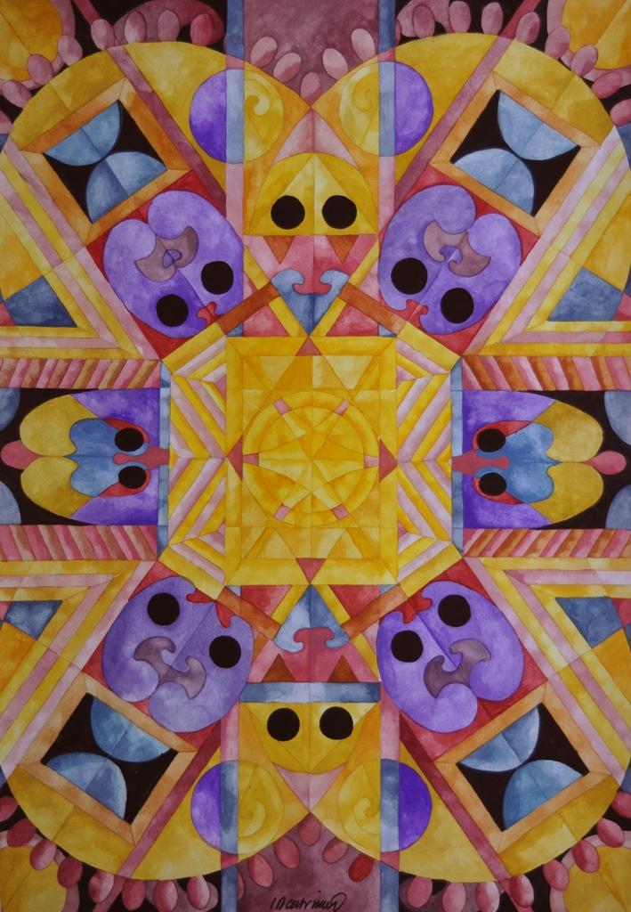 RAPHAEL IACCARINO  - Davenport, IA   Abstract Existencilism #3   watercolor