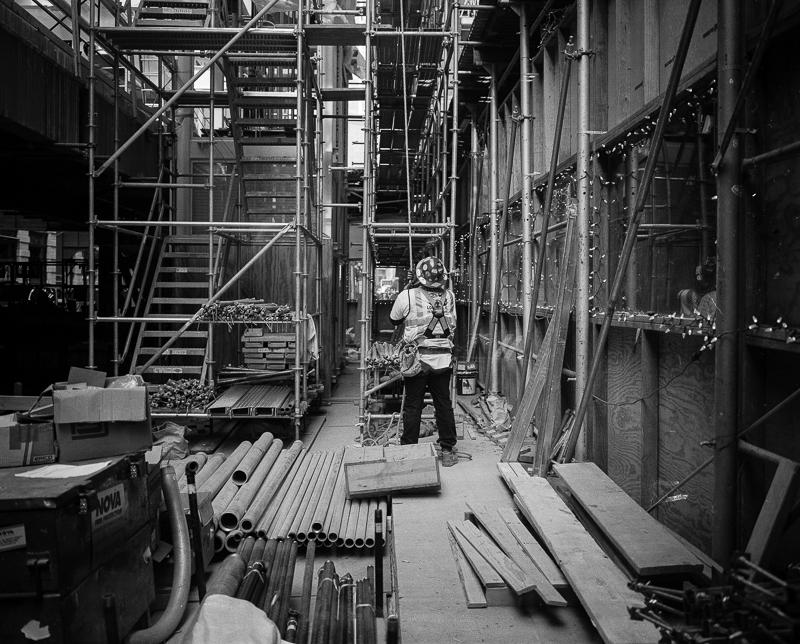 TIMOTHY GRAY  - Galesburg, IL   Washington & Wabash Construction Site I   archival pigment print