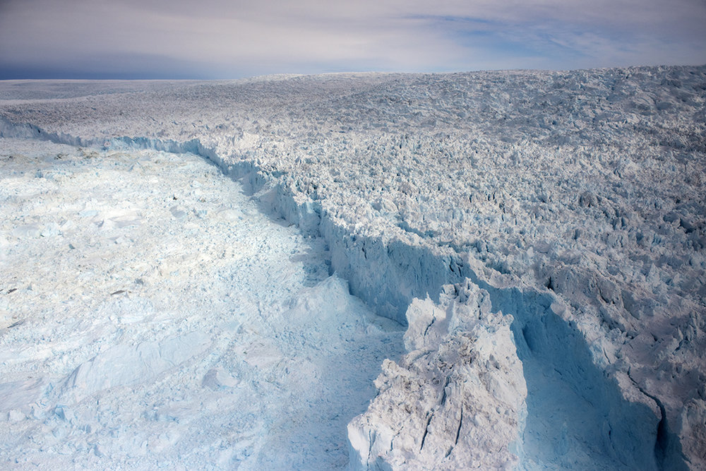MICHAEL GODSIL  - Galesburg, IL   Glacial Ridge, Kangia Glacier: Greenland, 2017   photography