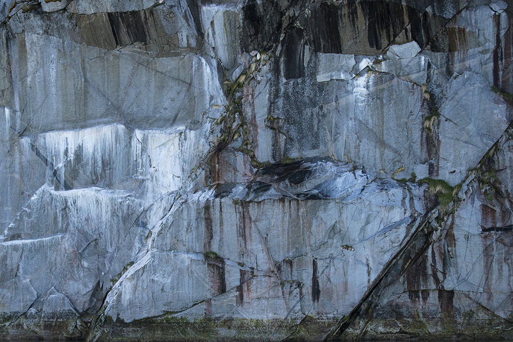 MICHAEL GODSIL  - Galesburg, IL   Cliff Abstraction: Greenland, 2017   photography