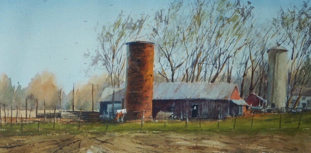 BOB HOLMES  - Millington, IL   Spring Day   watercolor, $330