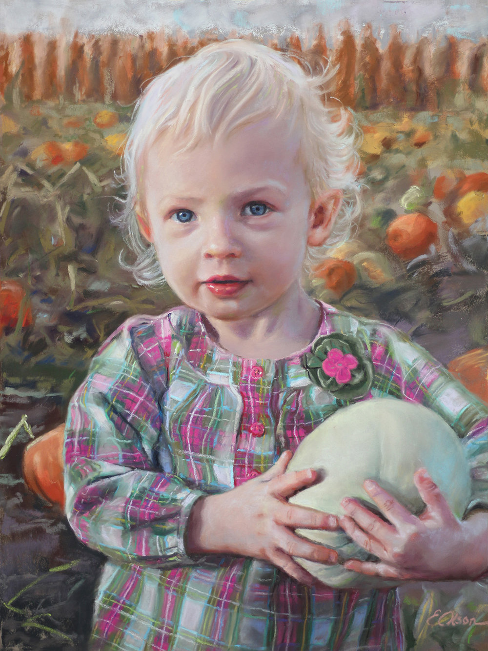 EMILY OLSON - Arvada, CO   Harvest Treasure   pastel on board, $750