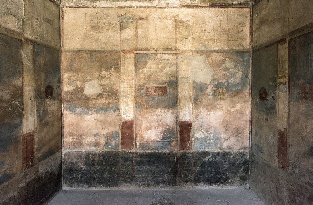 JOHN PUFFER  - Vincennes, IN   wall frescos (House of the Small Fountain, 2017: Pompeii, Italy)   archival inkjet print, $375