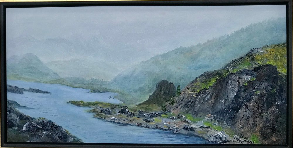 MELINDA RETTKE  - Peoria, IL   Skagway River, Alaska   oil on canvas, NFS