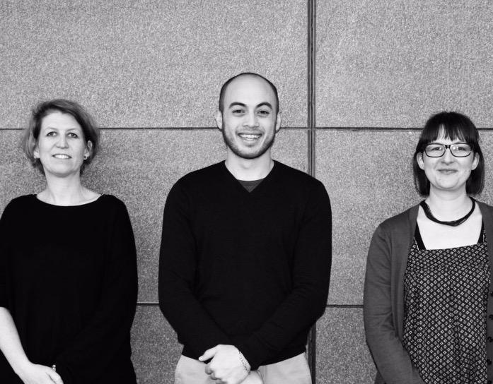 我们的期刊主编,从左到右:罗小雪(Kate Rowe),谢思茂(Simon Shieh),詹妮弗·弗森贝尔(Jennifer Fossenbell)