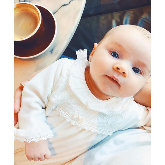 FRIDAY at last! This little blue eyed cutie doesn't mind the cold when she's wrapped up in our Patachou velour babygrow! Get this gorgeous style online today💖