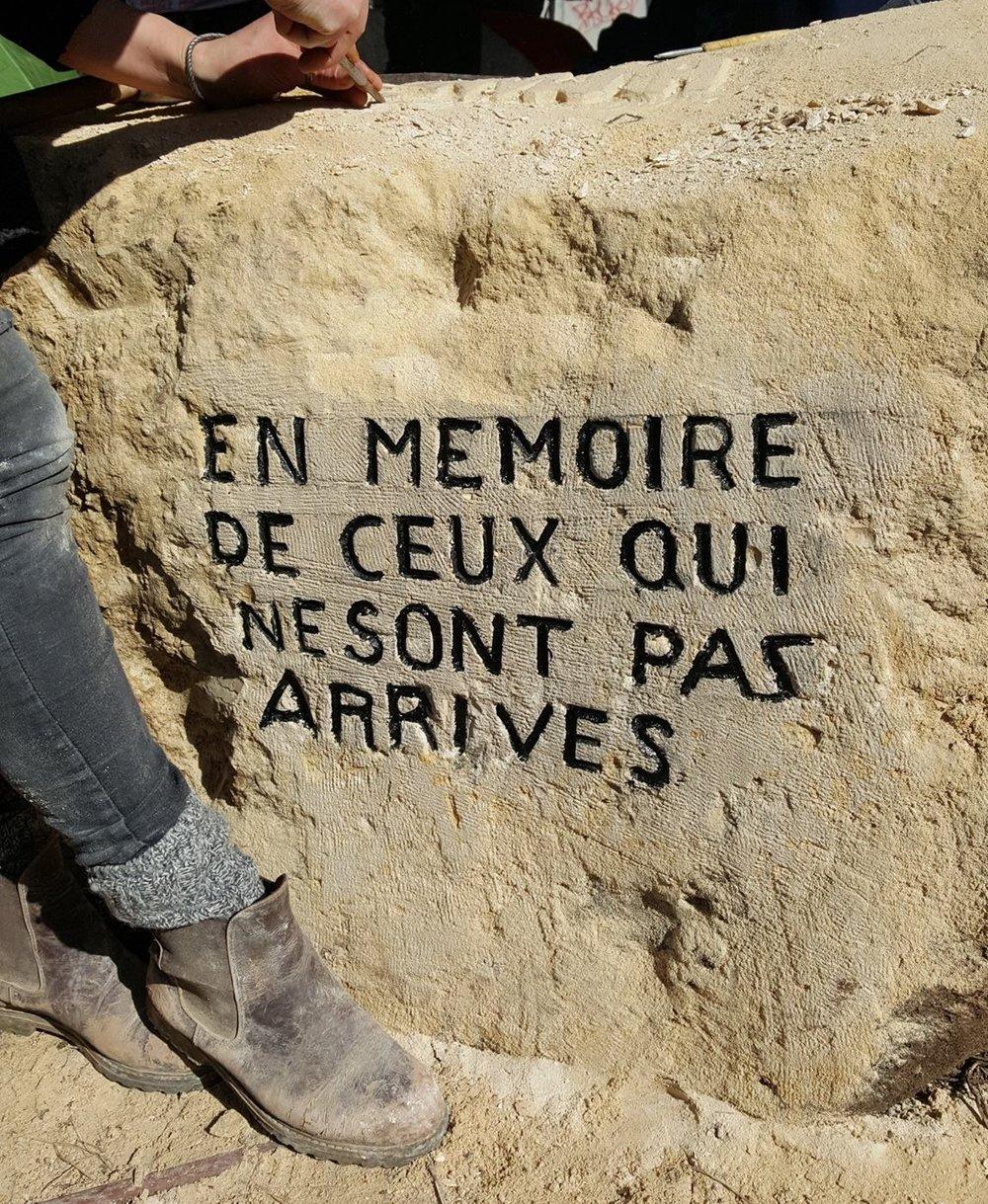 """In memory of those who didn't make it.""© Lara Bullens"