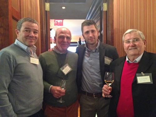 L-R: Winemakers Marco Caprai, Peter Heilborn (Tenuta Bellafonte), Paolo Bartoloni (Le Cimate), Guido Guardigli (Perticaia)