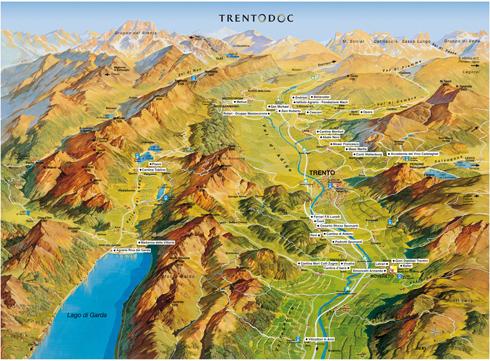 Lake Garda and the TrentoDOC wineries