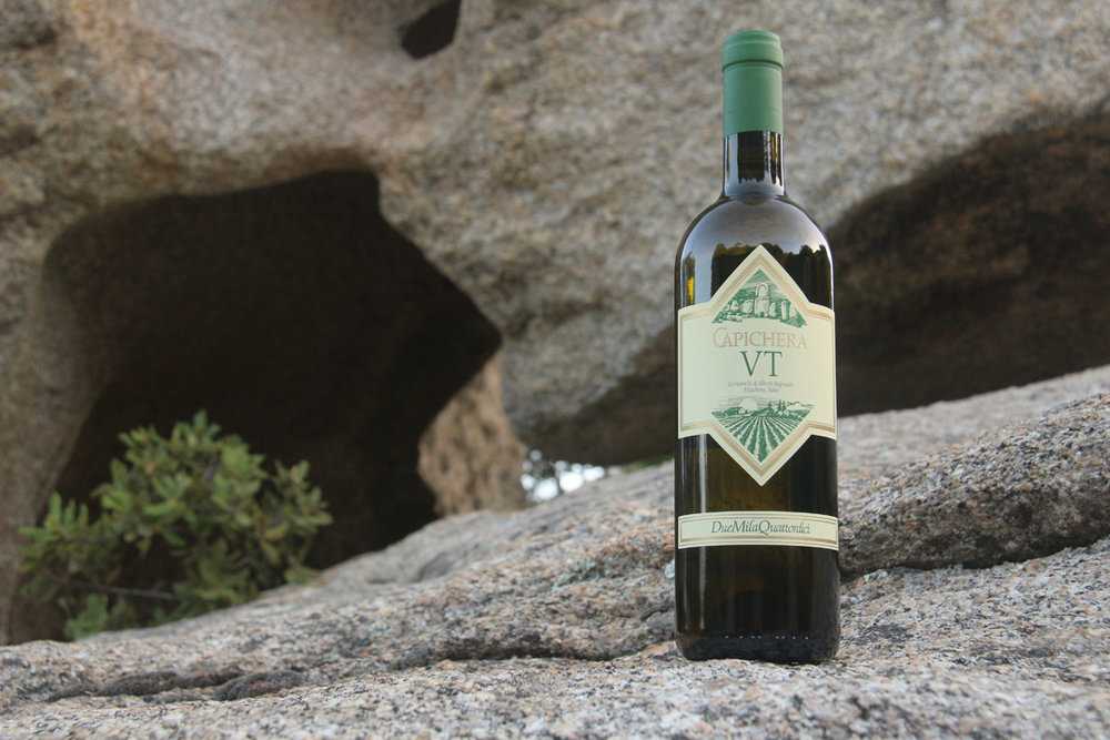 Capichera's Vermentinos are considered to be the island's best—an age-worthy style. The DOCG area of Gallura is known for its granite mountains, so I dragged this bottle on a hike amidst the strange and fantastic formations. — at  Lu Pastruccialeddu .