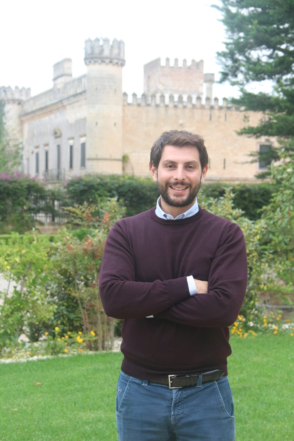 4th generation winery owner Luigi Seracca Guerrieri at Castello Monaci