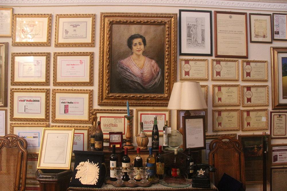Inside Leone de Castris, a portrait of grandmother Donna Lisa reigns