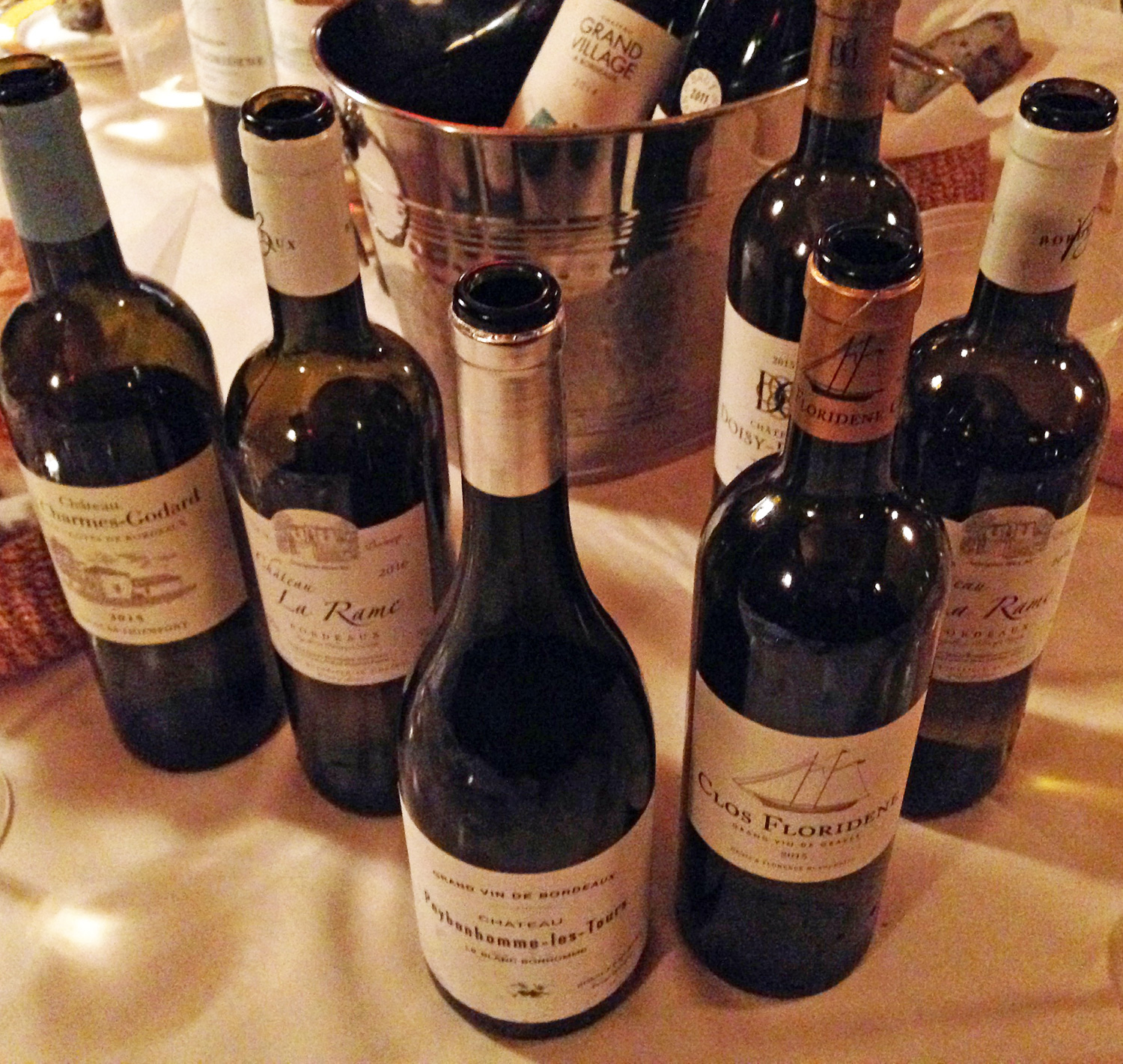 A cluster of favorites at the Wine Media Guild Bordeaux Blanc tasting.
