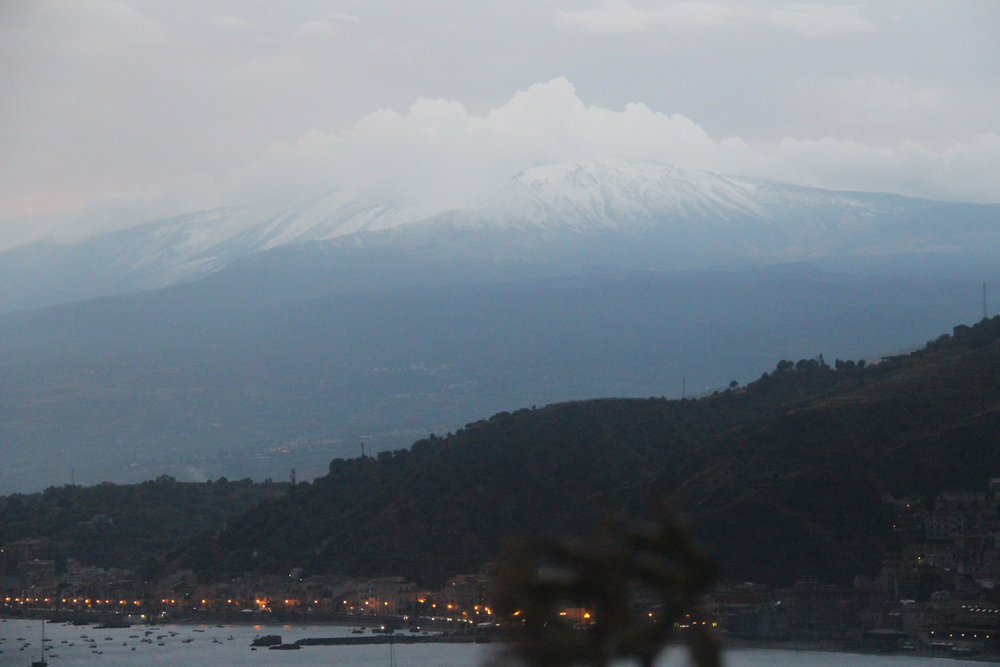 After the rain, Etna becomes snow-capped