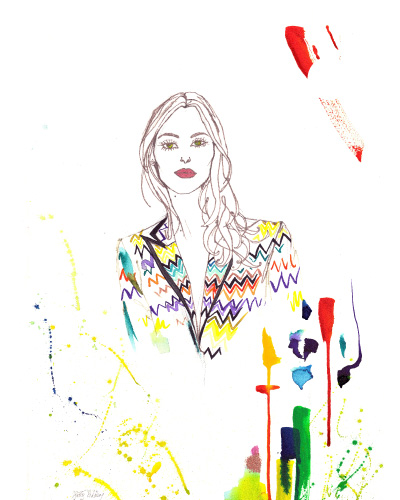 Portraits by  Hatty Pedder , Artist, Fashion Illustrator & Photographer.