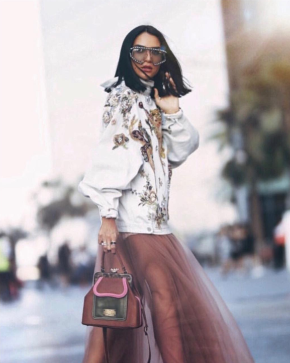 "Fashion Influencer @mrskeepa Brand Ambassador for ""conscious"" Lebanaese handbag label, LaLaQueen"