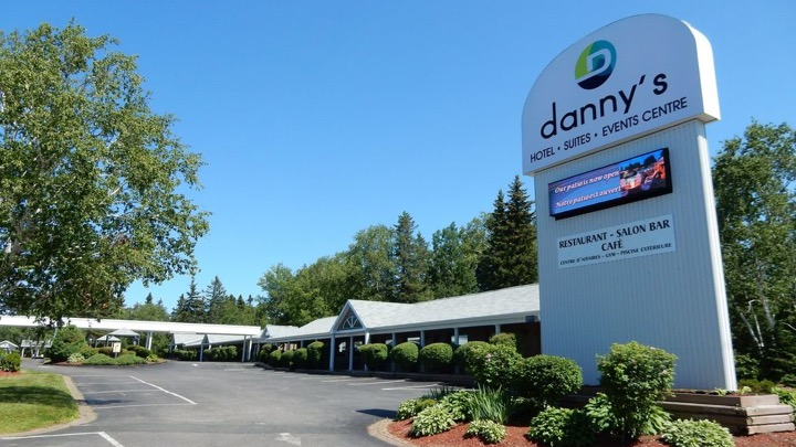 Danny's Hotel Suites Events Centre - 506-546-6621or 1-800-200-1350