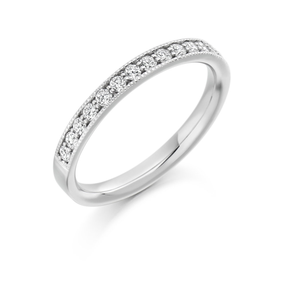 0.33ct brilliant cut diamond half eternity in 18ct gold