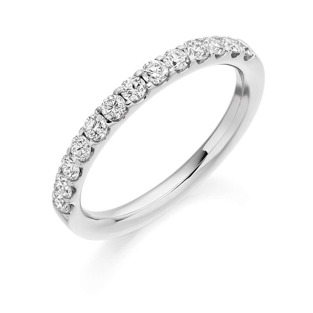 0.50ct brilliant cut diamond half eternity 18ct gold.