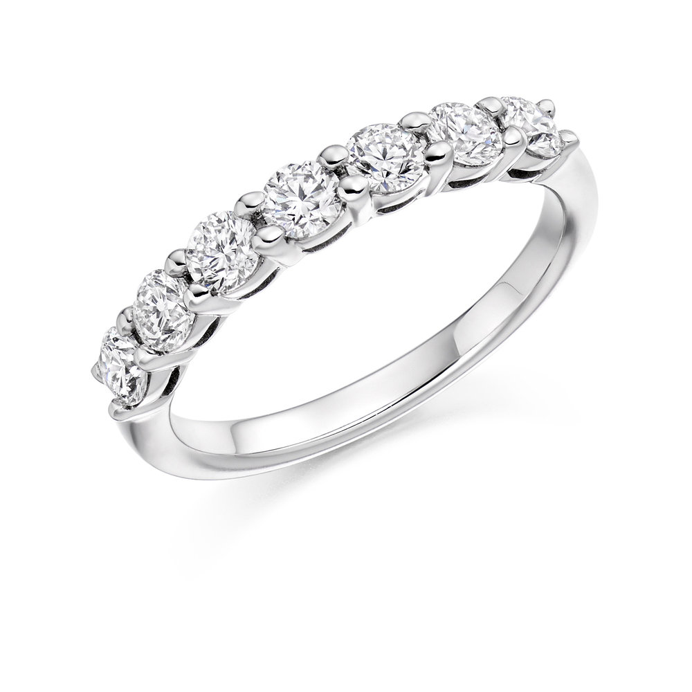 0.50ct brilliant cut diamond half eternity in 18ct gold