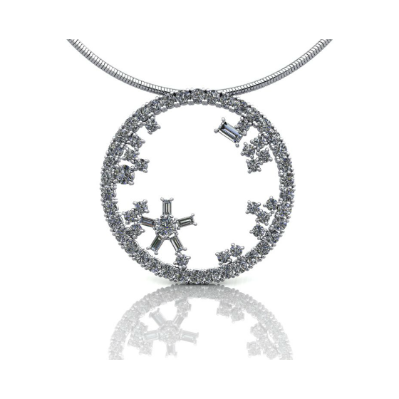 Diamond Pendant 18ct white gold