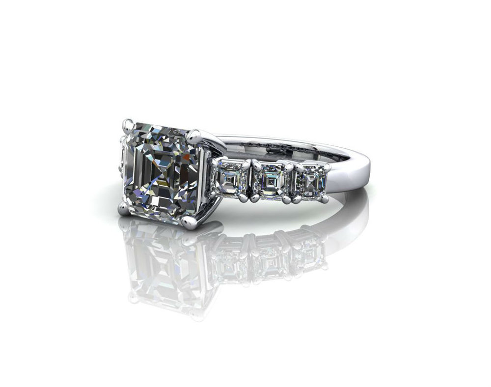 Princess Cut Fancy Diamond Ring.jpg