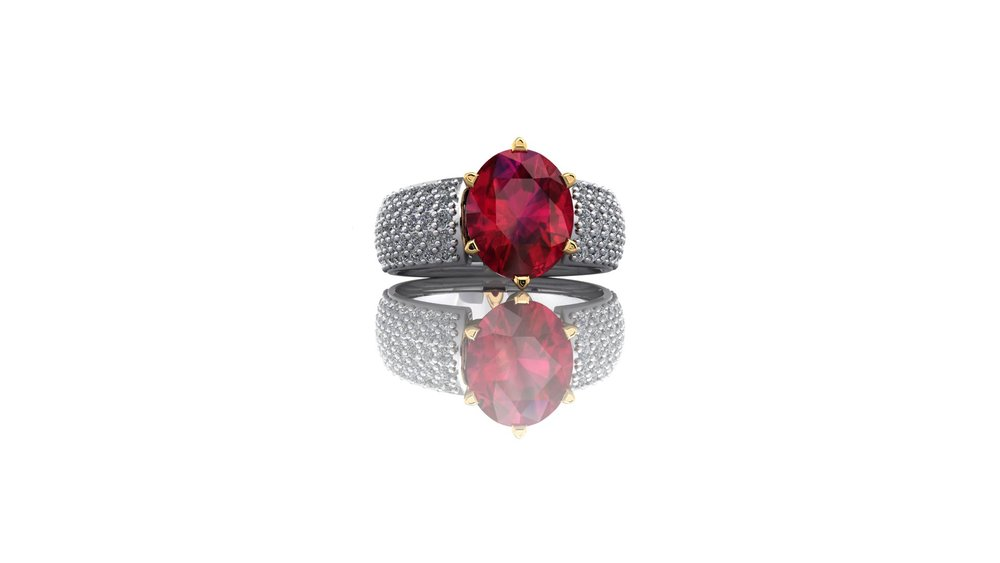 Ruby and Diamond Ring by Christopher Stoner