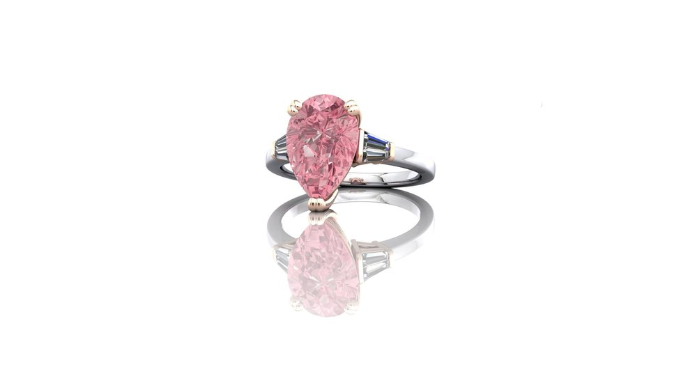 Natural Fancy Pink Diamond Ring by Christopher Stoner