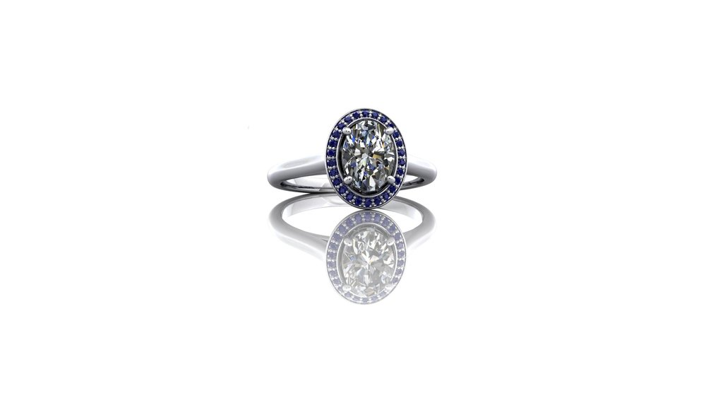 Sapphire and Diamond Ring by Christopher Stoner