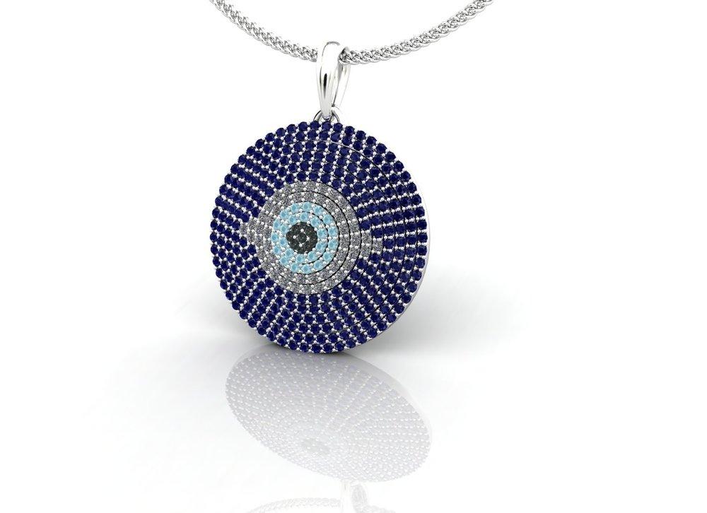 Evil eye pendant by Christopher Stoner