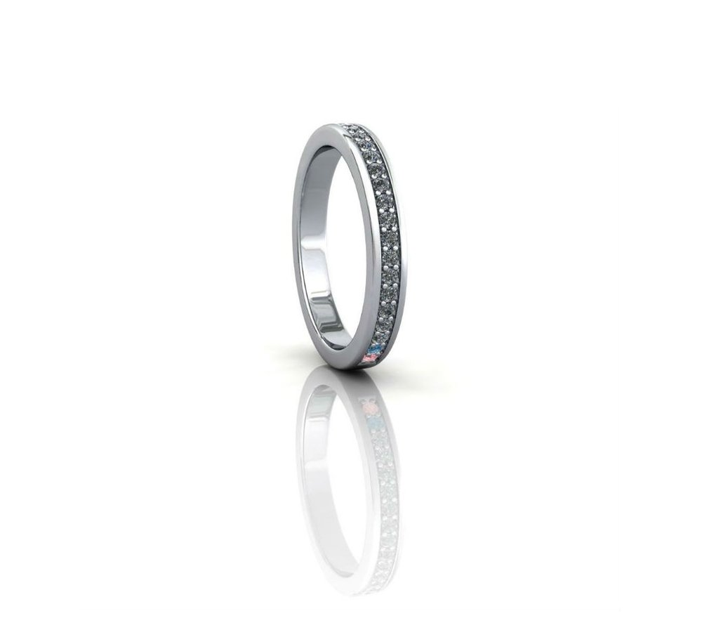 eternity ring with sapphires