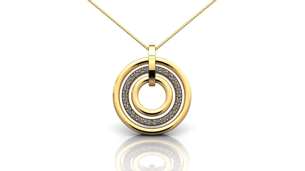 Yellow Gold Triple Circular Pendant.jpg
