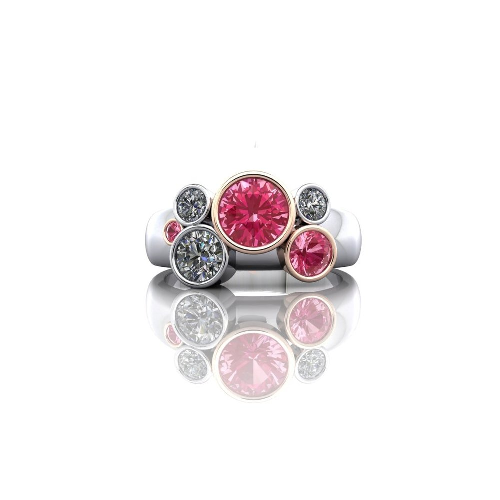 Pink Sapphire and Diamond Bubble Ring.jpg