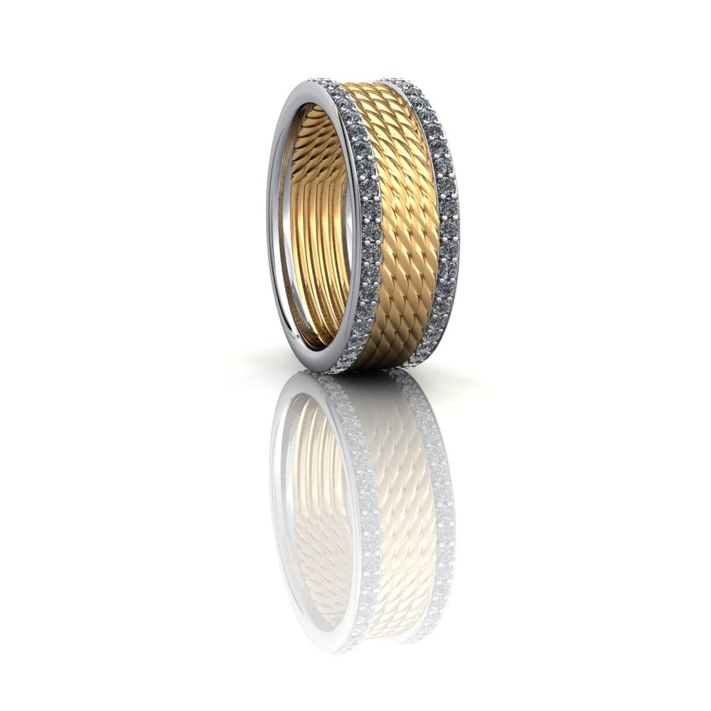 Gold and Platinum Band Ring.jpg
