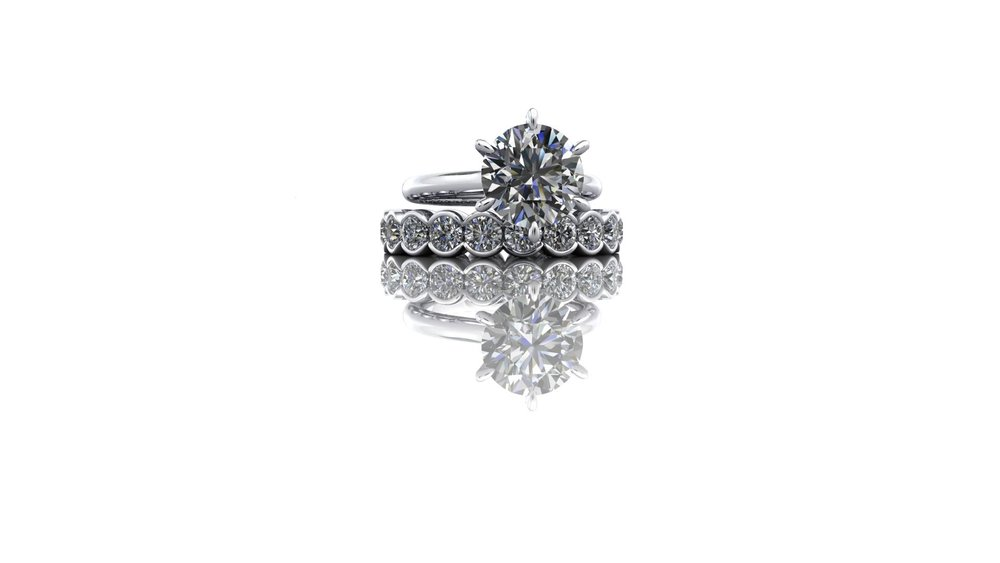 Matching wedding ring by Christopher Stoner