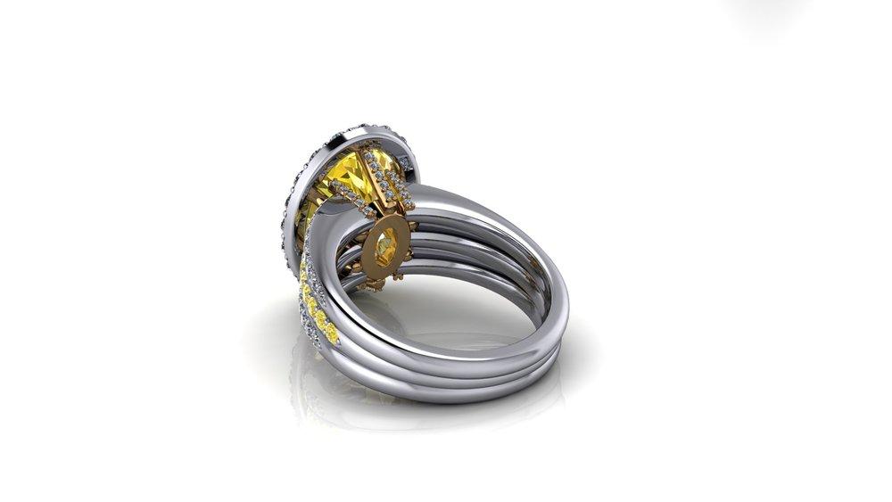 pretty bottom diamond ring