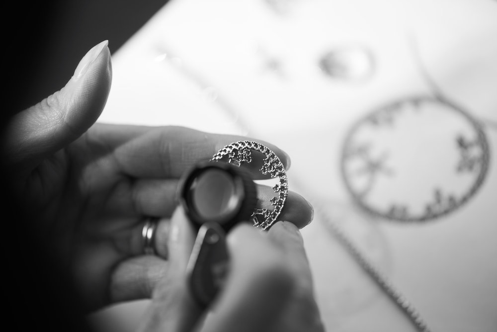 diamond pendant from old bracelet