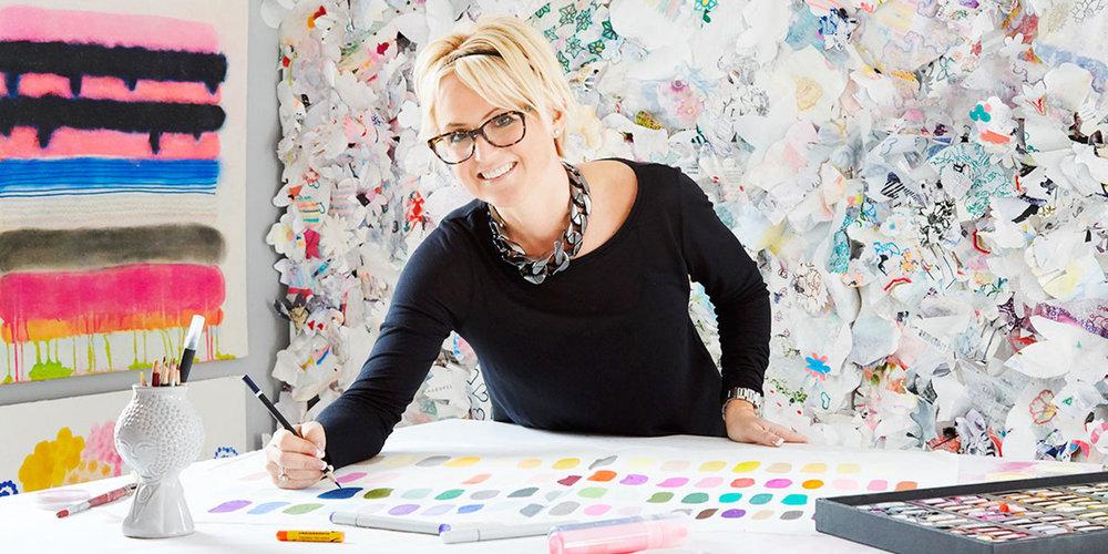 Artist Kristi Kohut in her studio