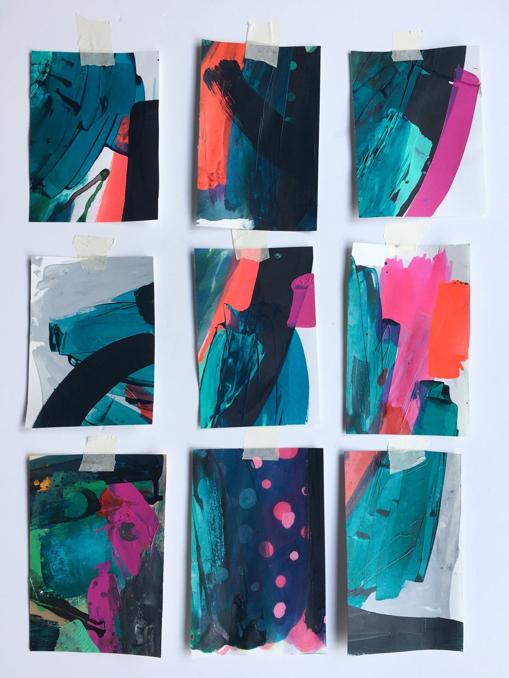 Sticks + Ink Hot wax batik studies March 2017.JPG