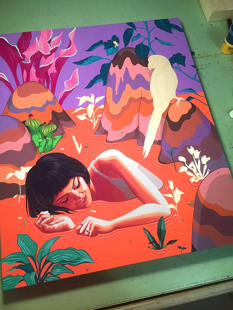 Sweetly-Sinking progres painting.jpg